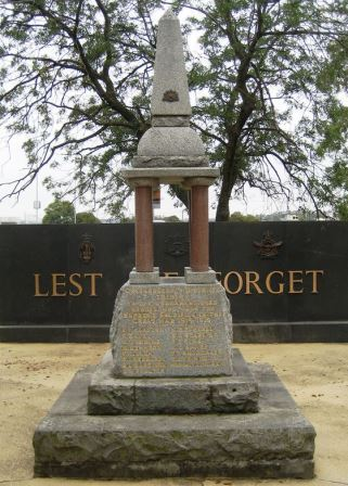 The Memorial today in War Memorial Park